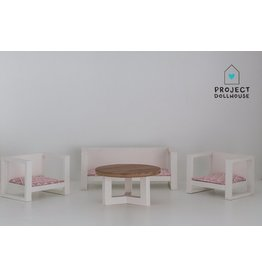 Project Dollhouse Modern Loungeset White