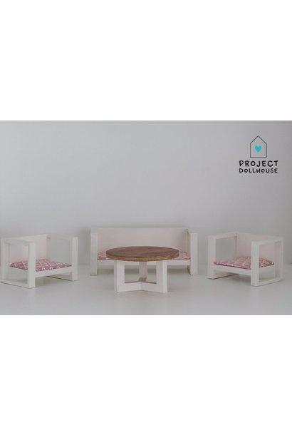 Modern Loungeset White