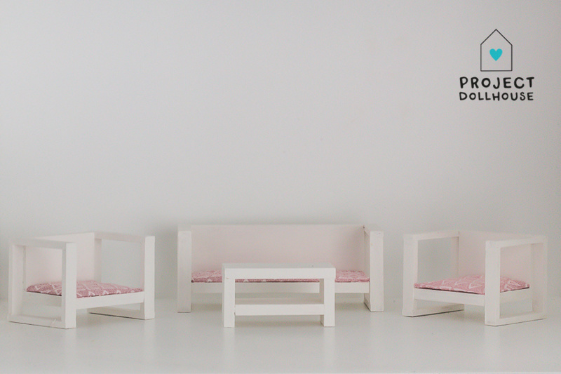 Modern Loungeset White-3