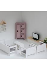 Project Dollhouse Zitkamer Set Wit