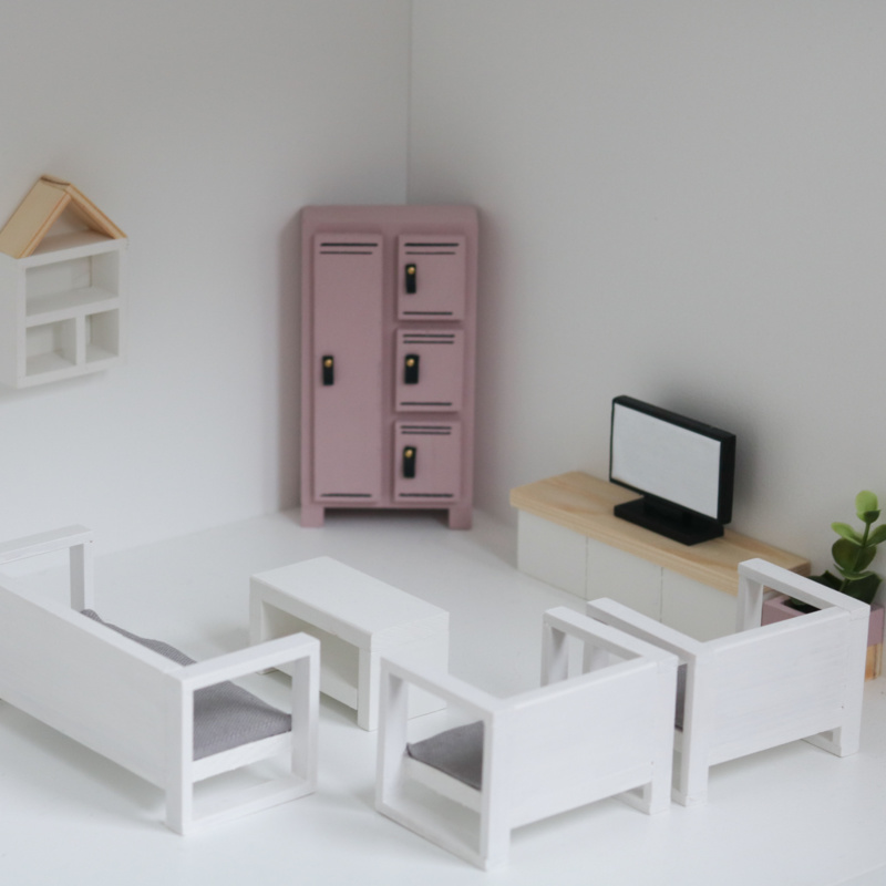 Modern Loungeset White-2