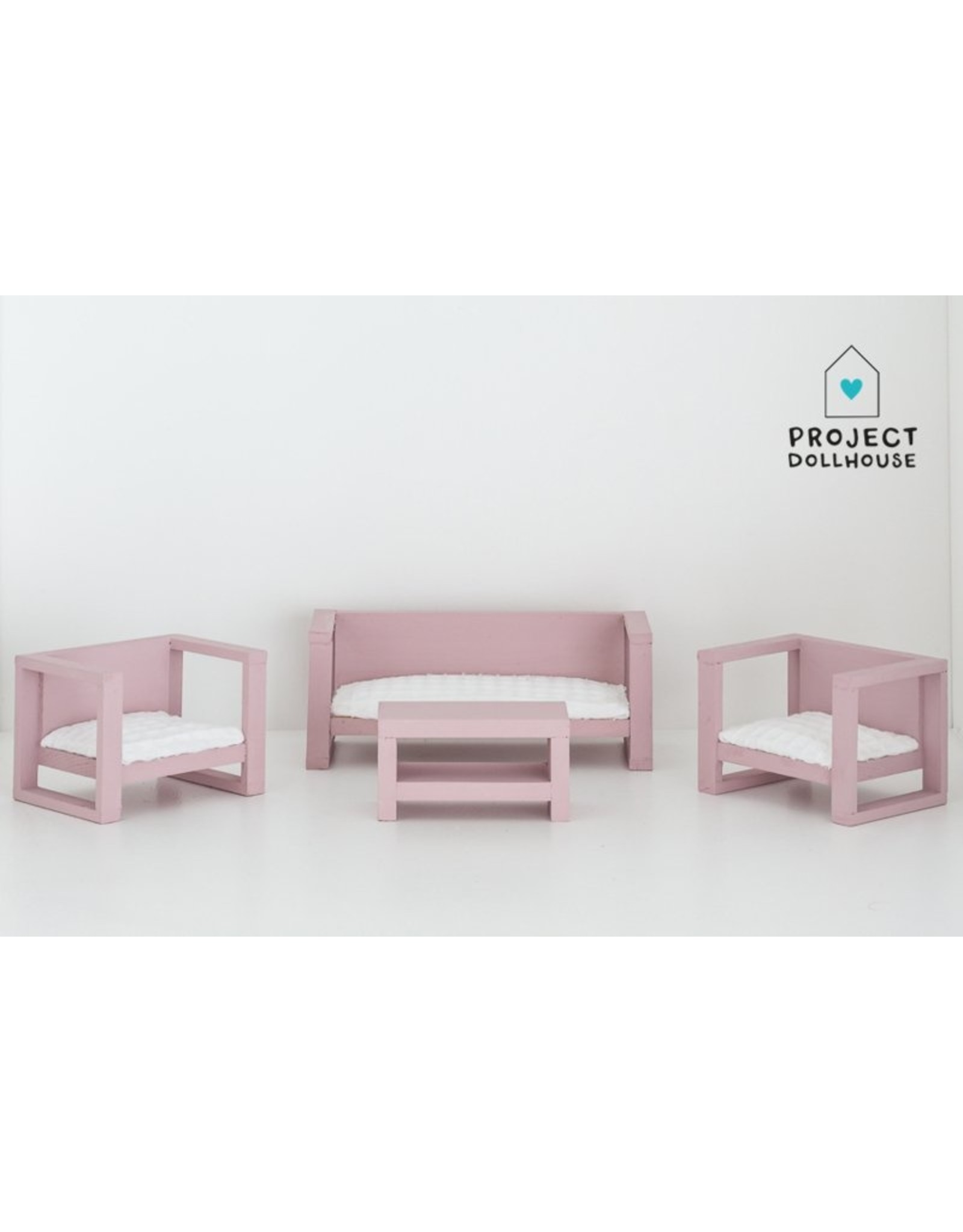 Project Dollhouse Modern Loungeset Old Pink