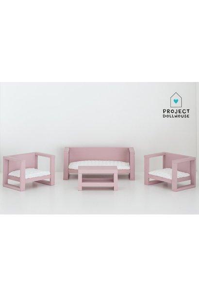 Modern Loungeset Old Pink