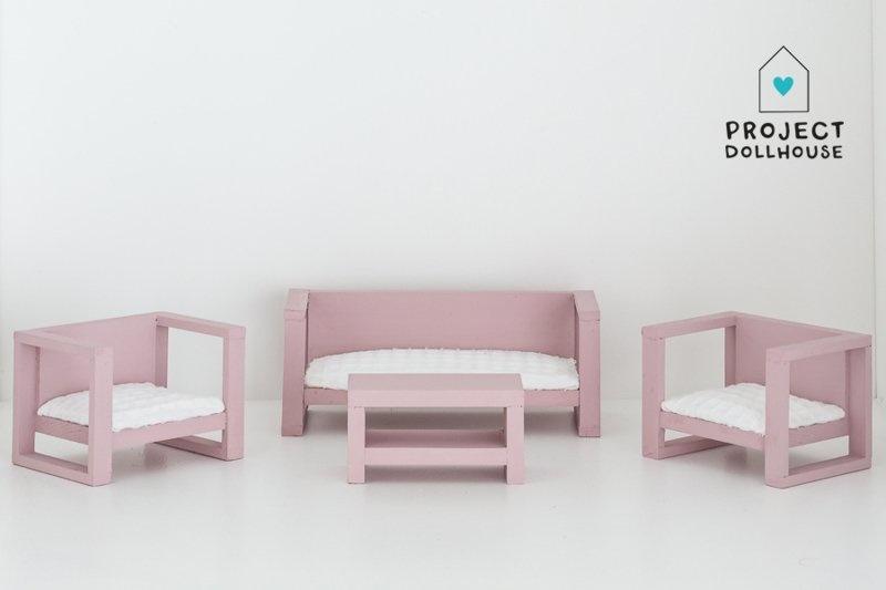 Modern Loungeset Old Pink-1