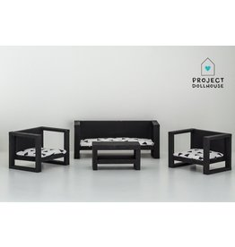 Project Dollhouse Modern Loungeset Black