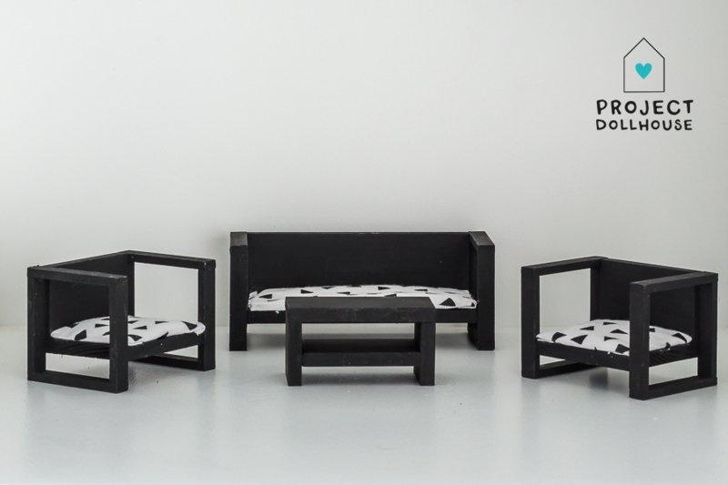 Modern Loungeset Black-1