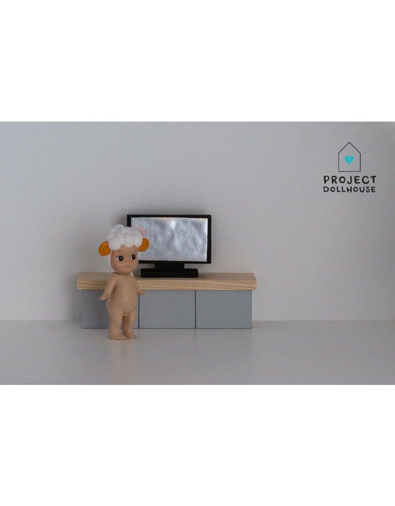 Grijs Tv Meubel.Tv Meubel Grijs Project Dollhouse Project Dollhouse
