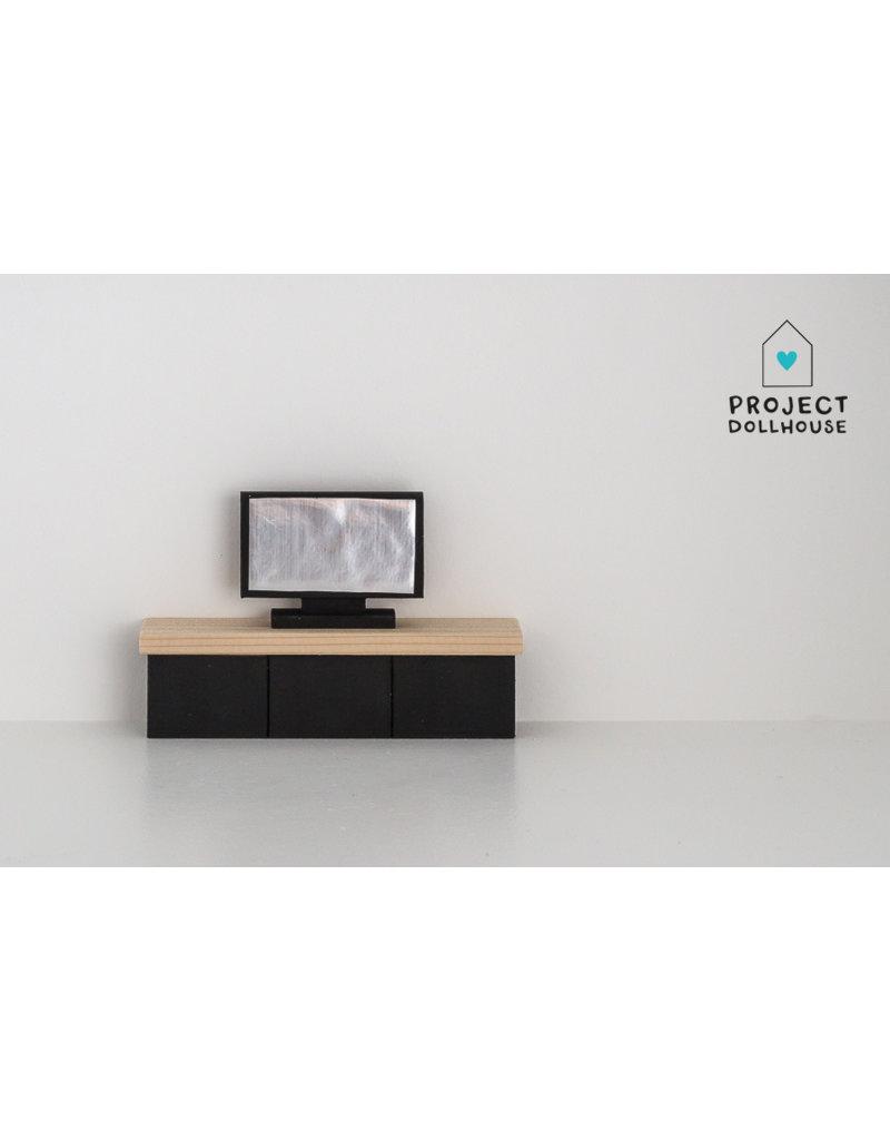 Project Dollhouse TV Meubel Zwart