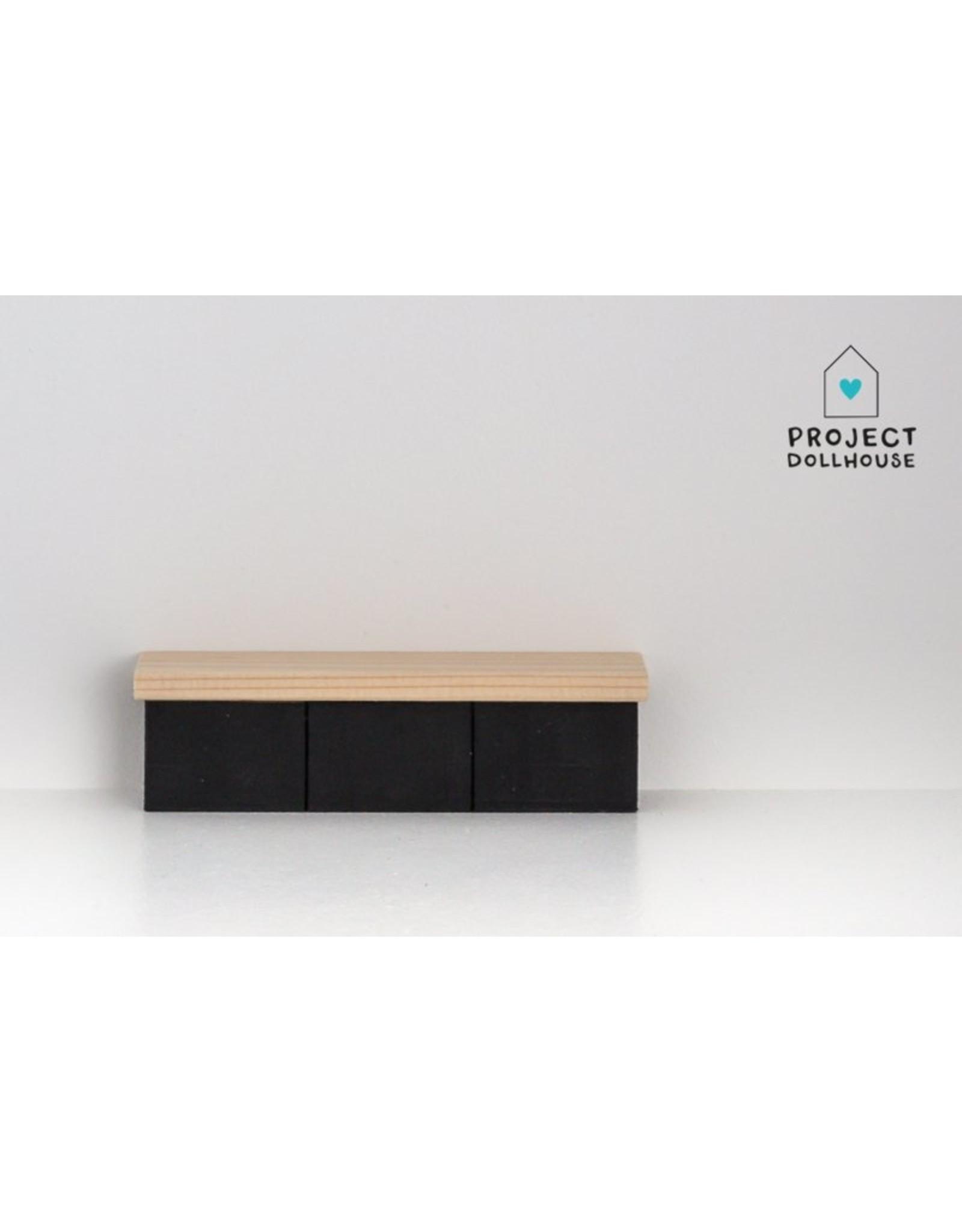 Project Dollhouse TV Furniture Black
