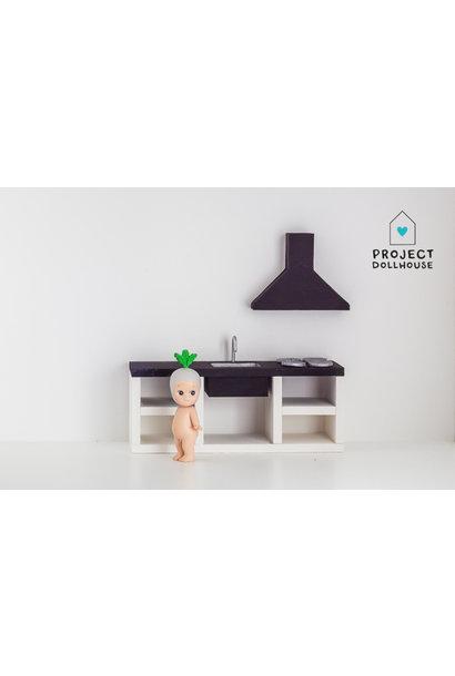 Keuken Zwart 18 cm