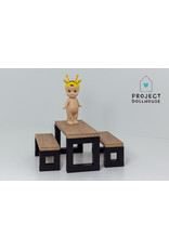 Project Dollhouse Modern dining set with benches black