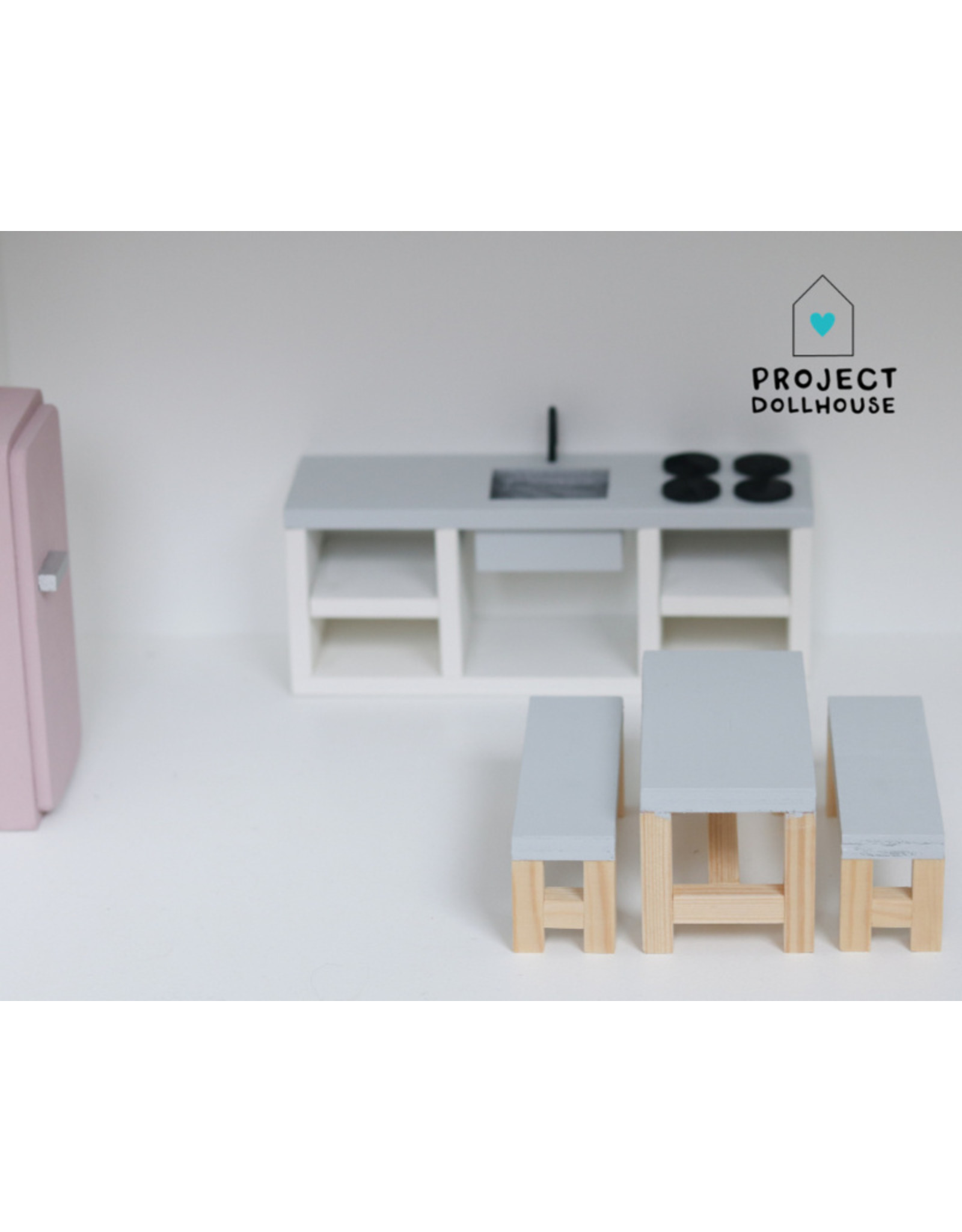 Project Dollhouse Dining Set Grey
