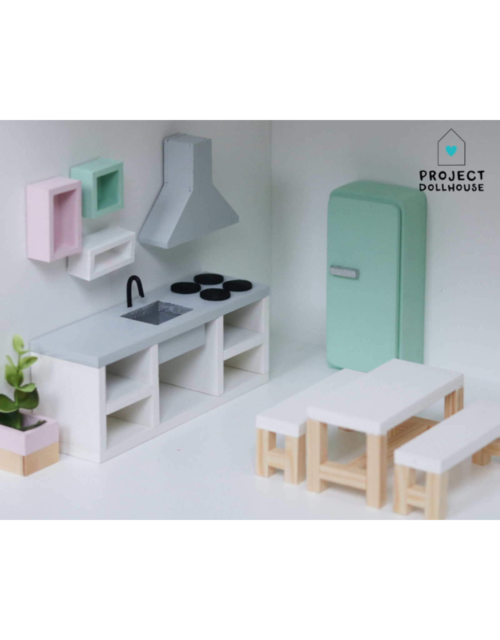 Project Dollhouse Dining Set White