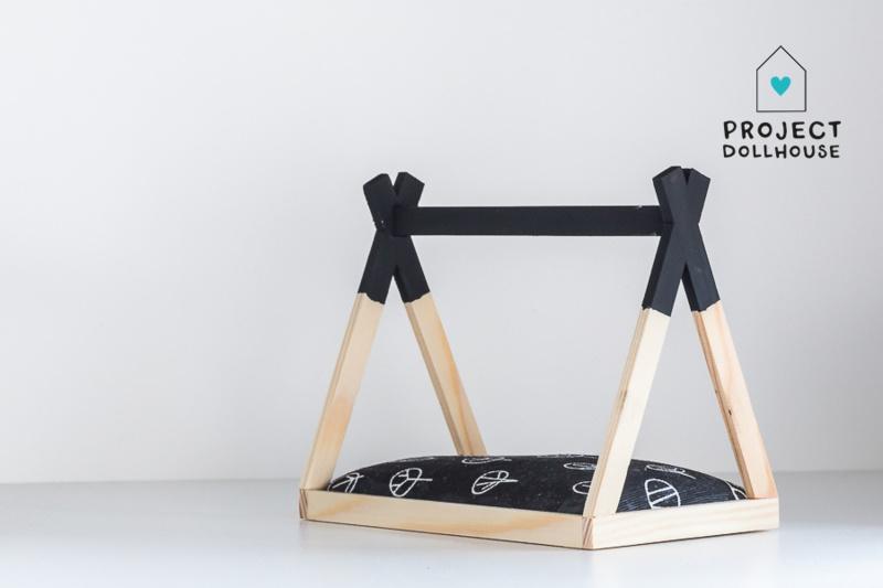 Tipi Bed Open Model Zwart-2