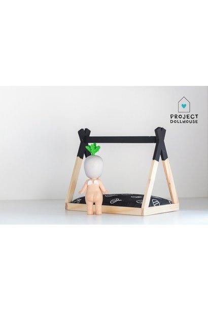 Tipi Bed Open Model Zwart
