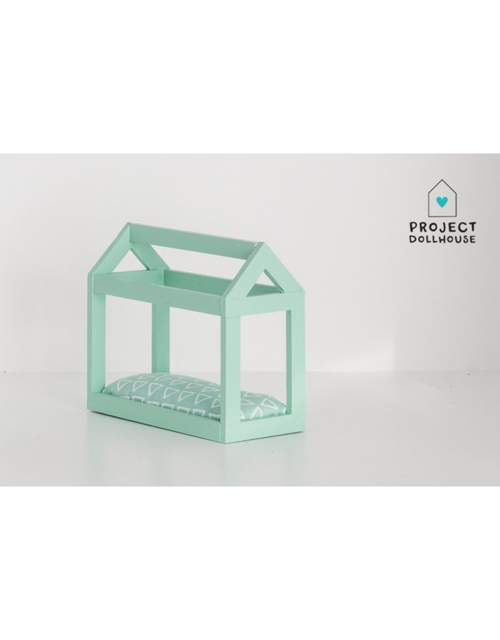 Project Dollhouse House shaped bed mint green