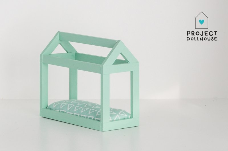 House shaped bed mint green-2