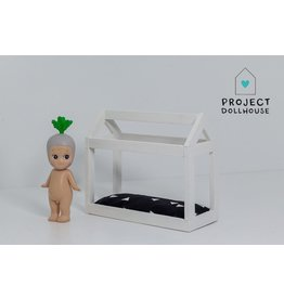 Project Dollhouse House shaped bed white