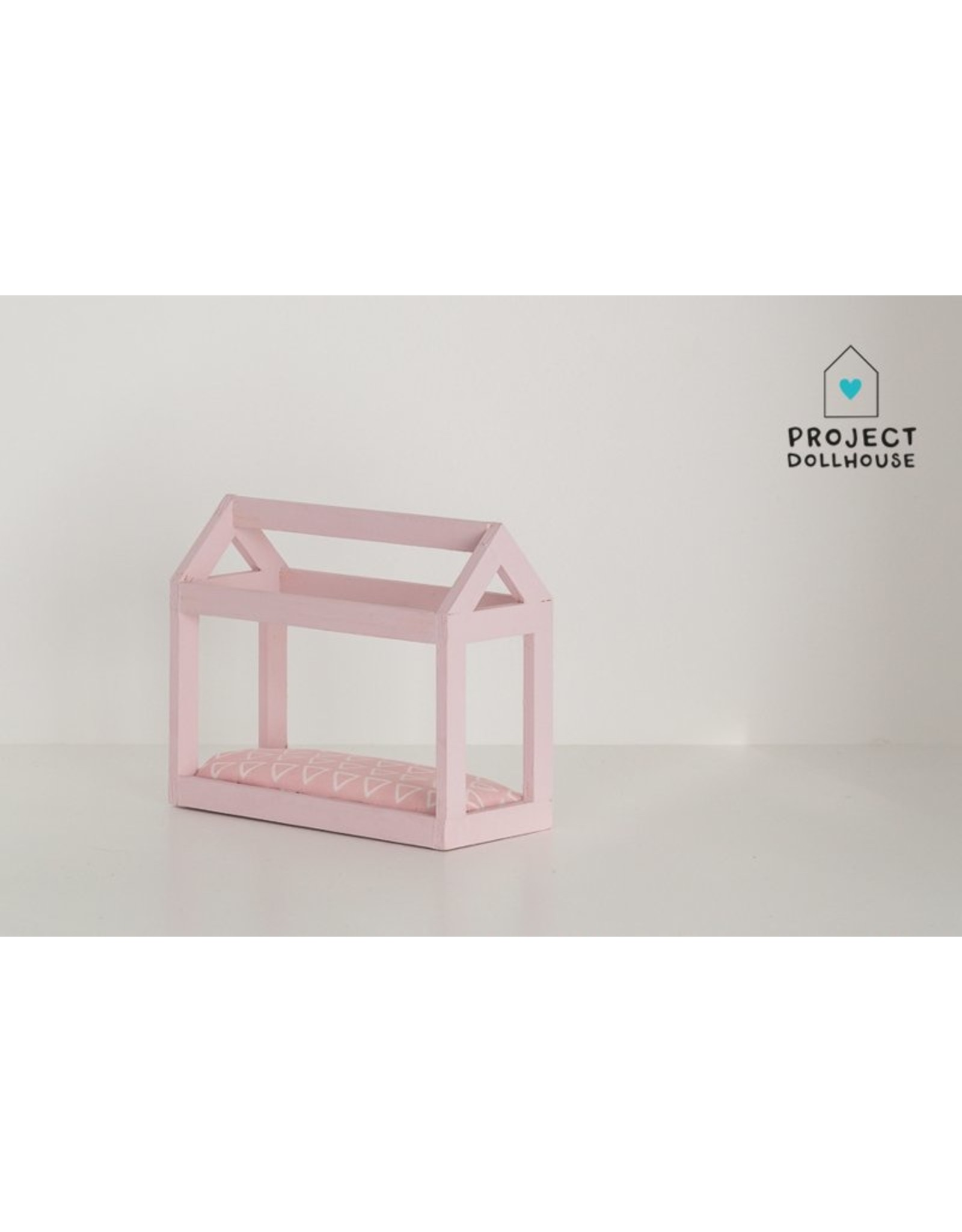 Project Dollhouse House shaped pastel pink