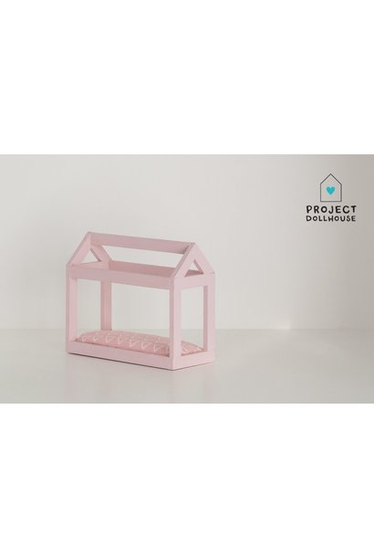 House shaped bed pastel pink