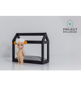 Project Dollhouse House shaped bed black