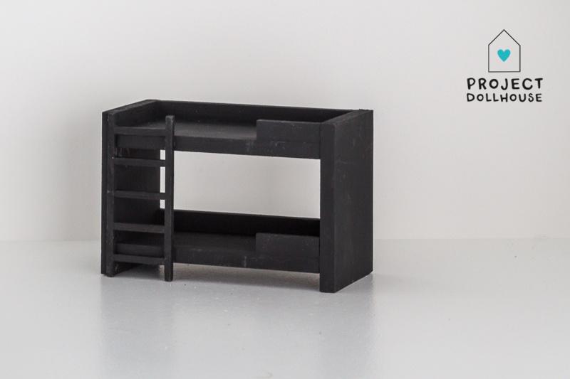 Stapelbed Zwart-2