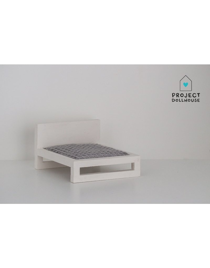 Project Dollhouse White Double bed