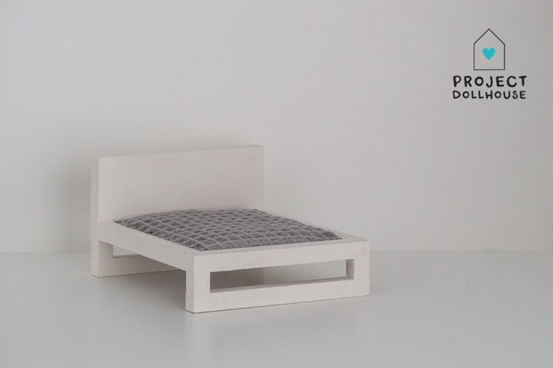 White Double bed-1