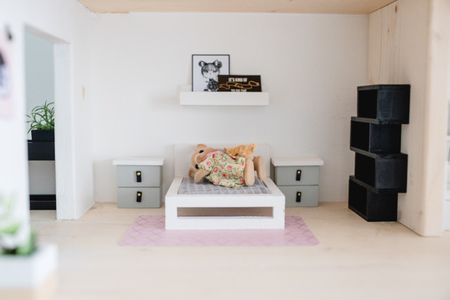 White Double bed-2