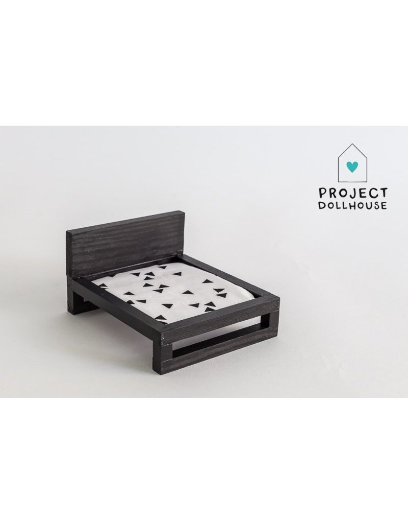 Project Dollhouse Double bed black