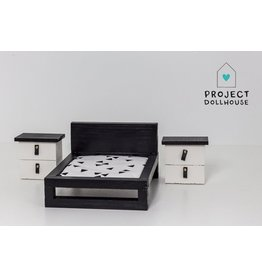 Project Dollhouse Nachtkastjes Set Zwart