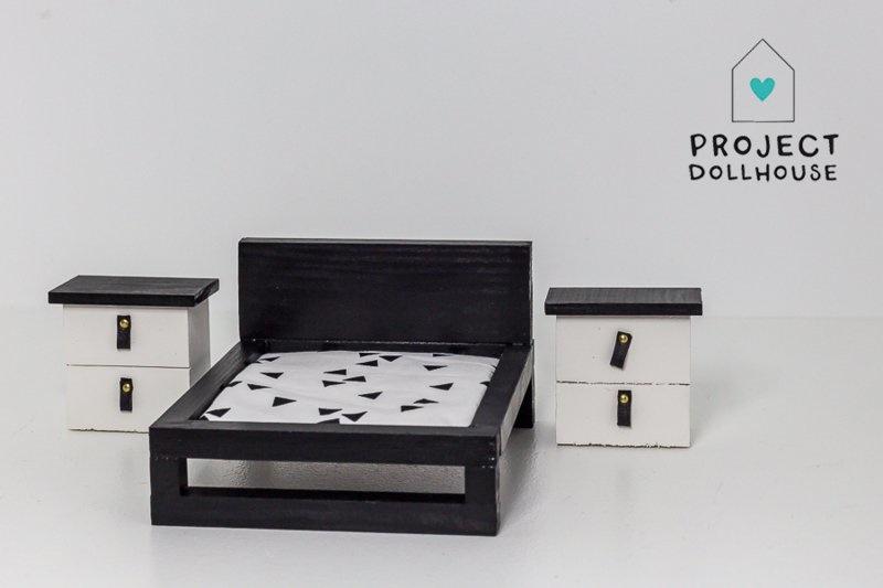 Set of two bedside tables black-1