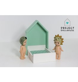 Project Dollhouse House Frame bed Mintgreen