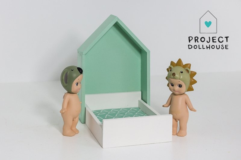 House Frame bed Mintgreen-1