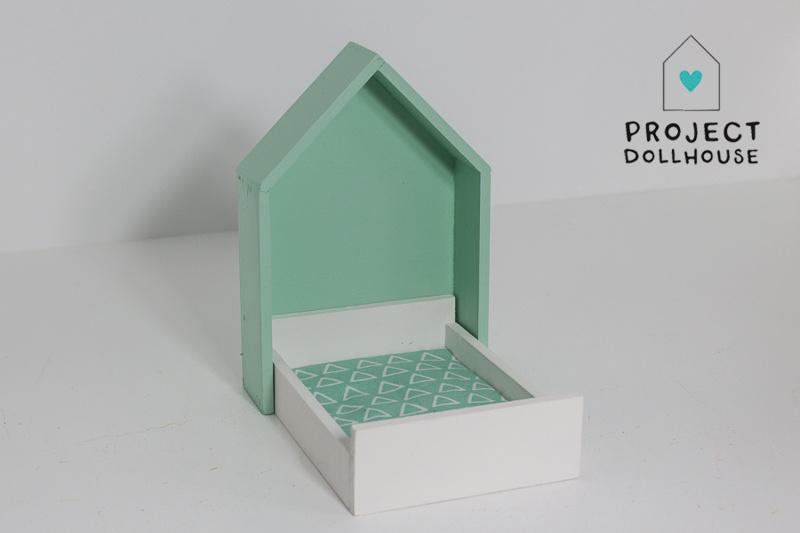 House Frame bed Mintgreen-2