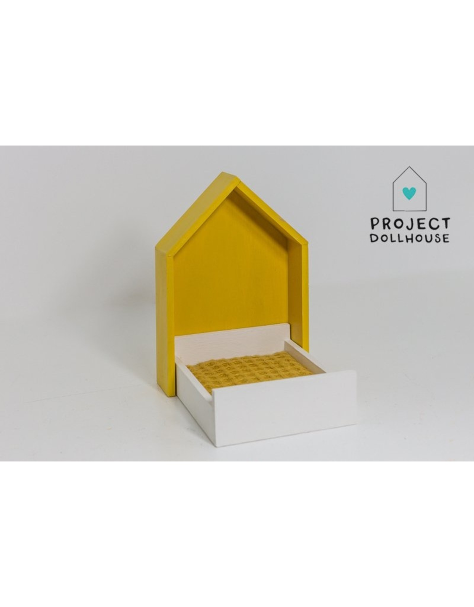 Project Dollhouse House Frame bed Ocher Yellow