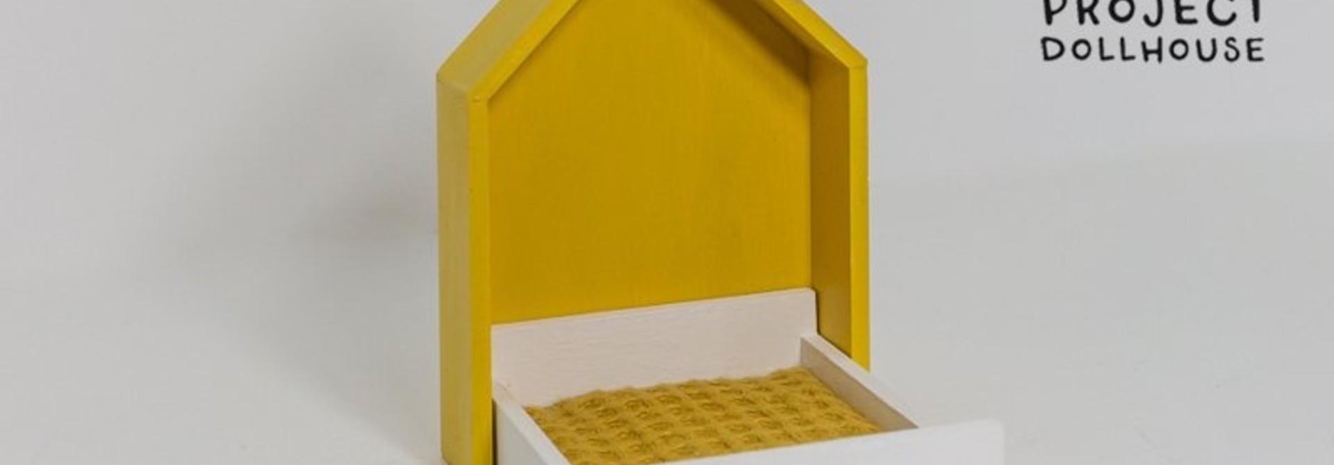 House Frame bed Ocher Yellow