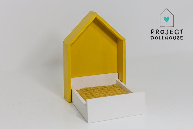 House Frame bed Ocher Yellow-1