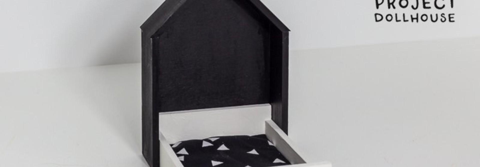 Huisjesbed Zwart