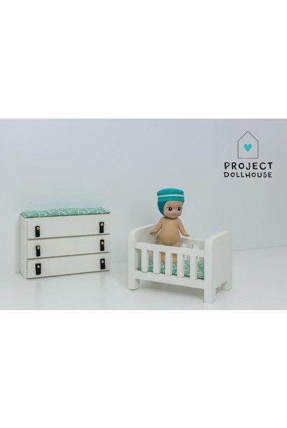 Bedstead and Changing Table
