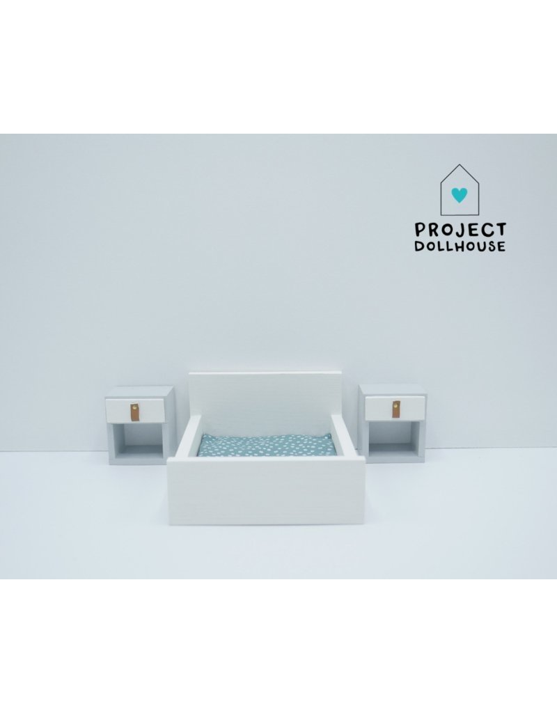 Project Dollhouse Tweepersoonsbed Dicht Model Wit