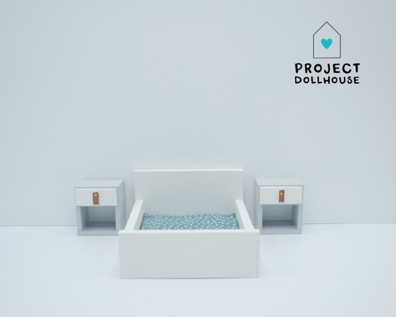 White Double bed closed model-1