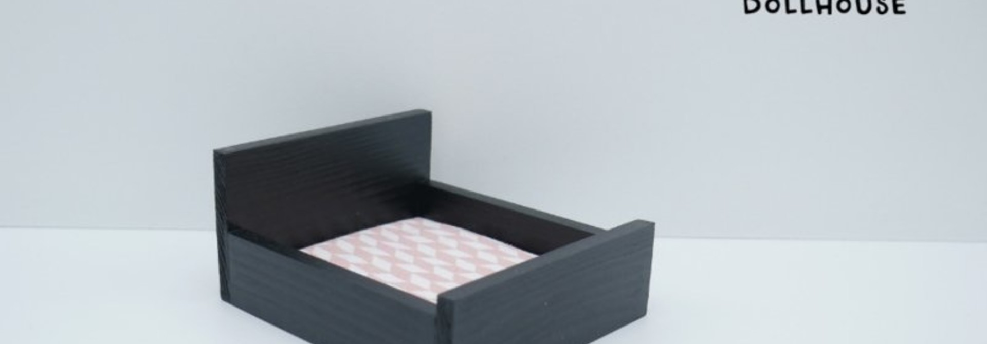 Black Double bed closed model