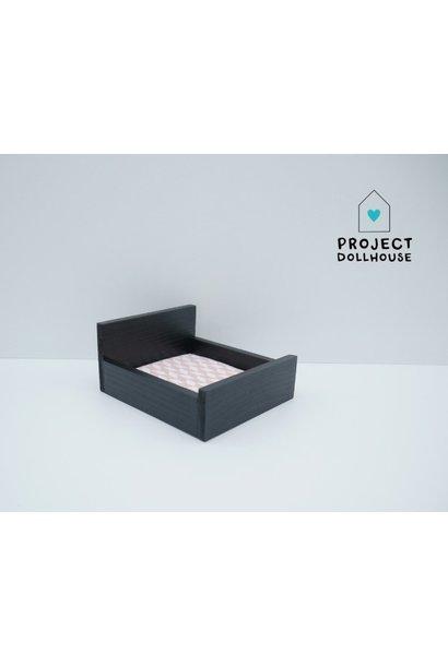 Tweepersoonsbed Dicht Model Zwart