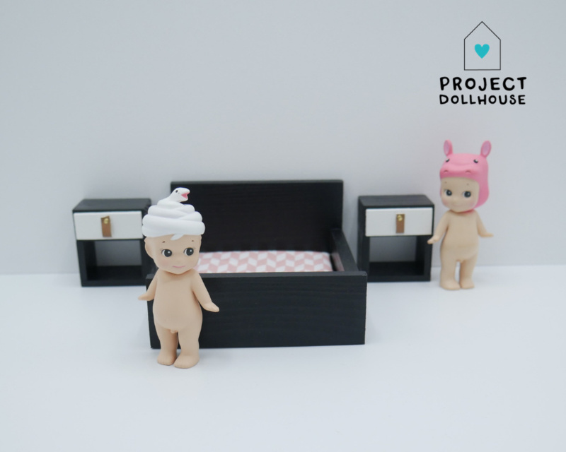 Black Double bed closed model-2