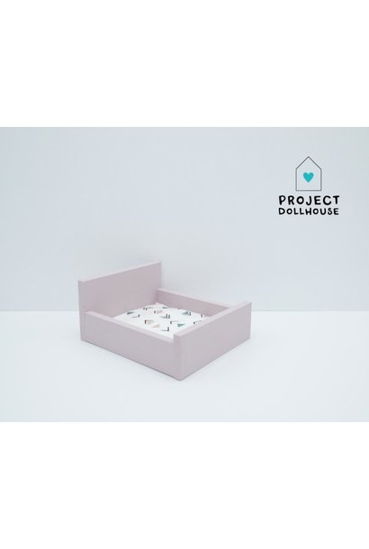 Old Pink Double bed closed model