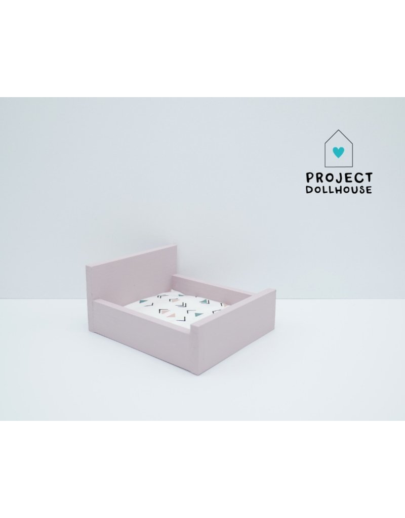Project Dollhouse Tweepersoonsbed Dicht Model Oud Roze