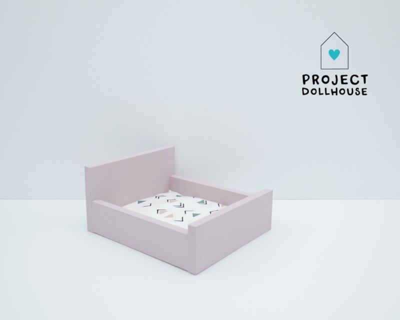 Tweepersoonsbed Dicht Model Oud Roze-1