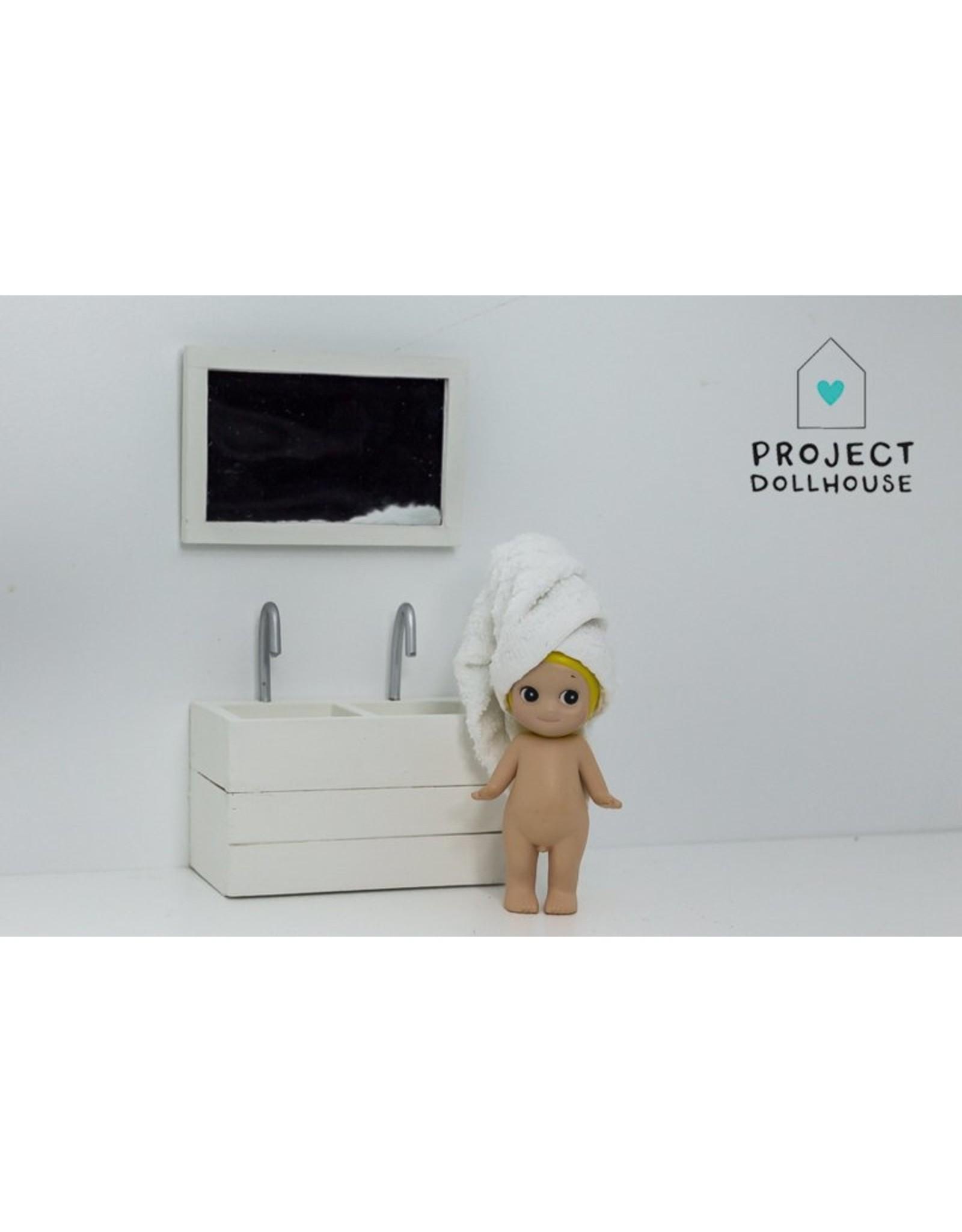 Project Dollhouse Badkamer Spiegel Wit