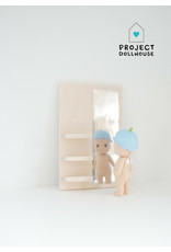 Project Dollhouse Wooden Mirror Wall Rectangle